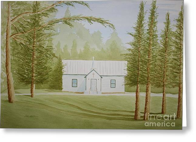 Concord Greeting Cards - A North Carolina Church Greeting Card by Stacy C Bottoms
