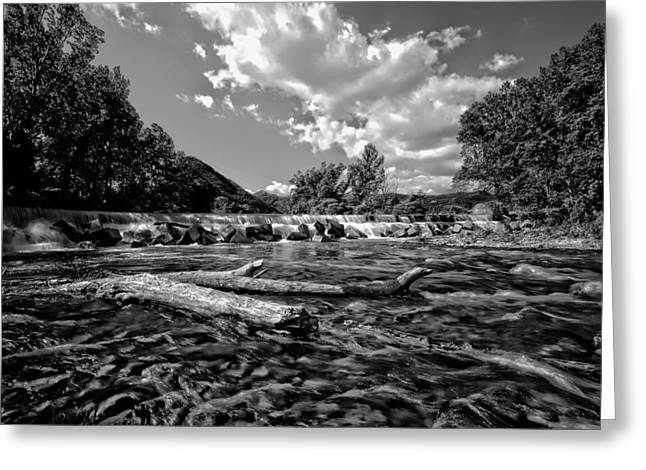 Ground Level Greeting Cards - A River Runs Through It Greeting Card by Mountain Dreams