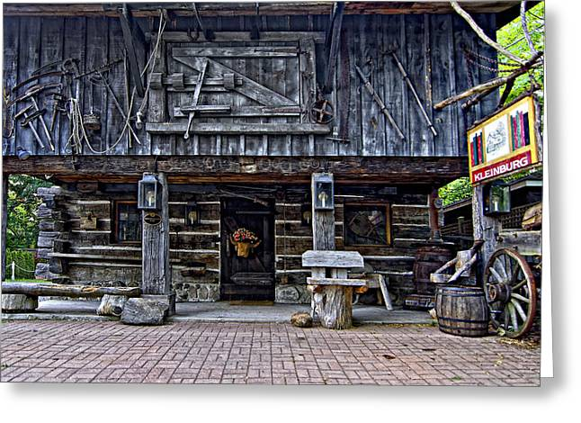 Old Cabins Greeting Cards - A Simpler Time Greeting Card by Steve Harrington