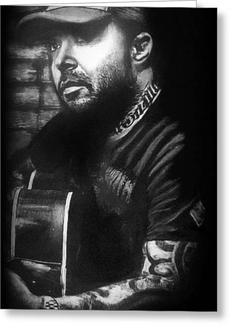 Celebrity Pastels Greeting Cards - Aaron Lewis Greeting Card by Sheena Pike