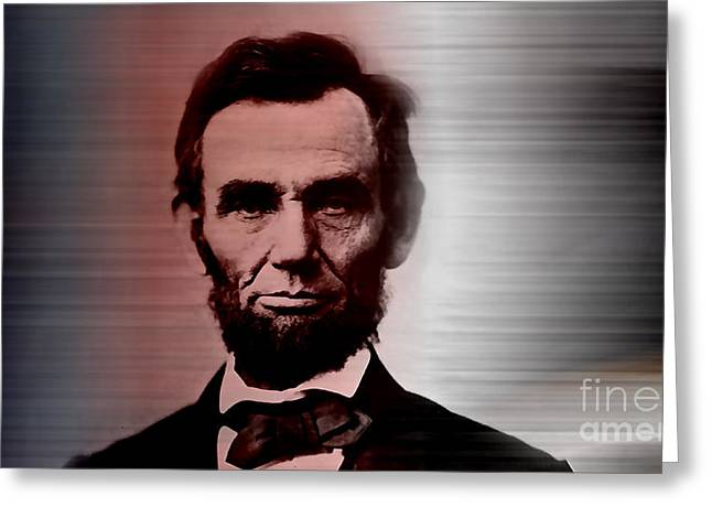 Abraham Lincoln Greeting Cards - Abraham Lincoln Greeting Card by Marvin Blaine