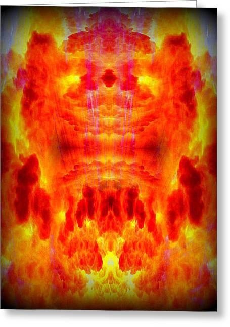 Orange Greeting Cards - Abstract 70 Greeting Card by J D Owen