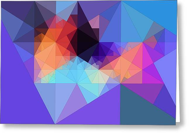Abstraction Greeting Cards - Abstract Art Composition Of Triangles Greeting Card by Victor Gladkiy
