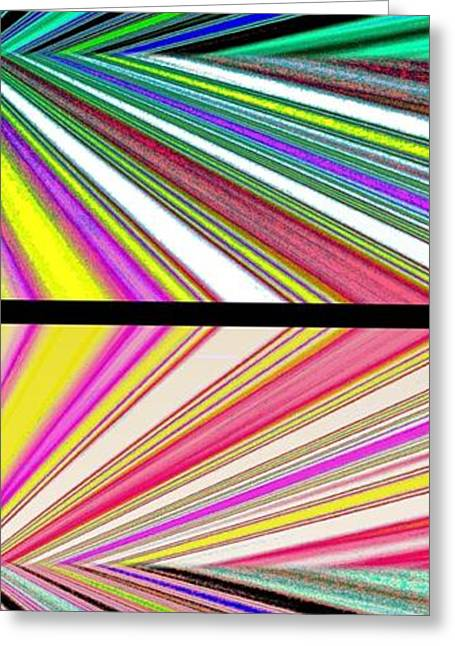 Abstract Digital Digital Greeting Cards - Abstract Fusion 221 Greeting Card by Will Borden