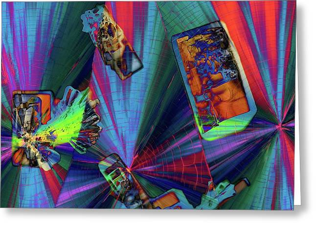Abstract Polarised Light Micrographs Greeting Card by Steve Lowry