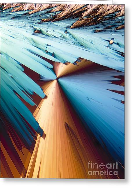 Adenosine Greeting Cards - Adenosine Crystals, Light Micrograph Greeting Card by David Parker