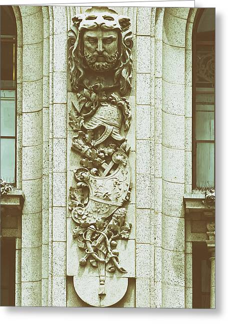 Analog Reliefs Greeting Cards - Adolphus Hotel Architectural Detail - Dallas Texas Greeting Card by Mountain Dreams