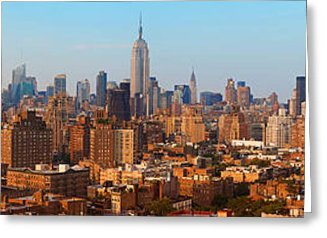 Midtown Greeting Cards - Aerial View Of A City, Manhattan, New Greeting Card by Panoramic Images