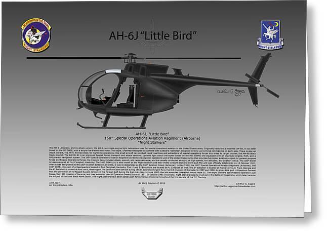 Oh-6a Greeting Cards - AH-6J Little Bird Greeting Card by Arthur Eggers