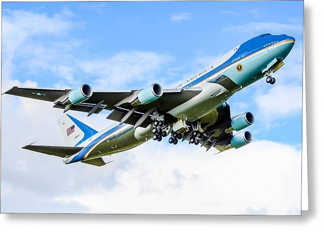 President Obama Greeting Cards - Air Force One Greeting Card by Puget  Exposure