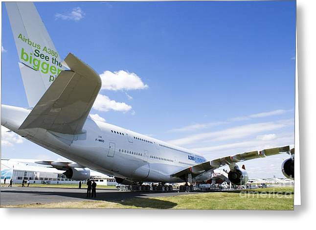 A380 Greeting Cards - Airbus A380 Greeting Card by Mark Williamson