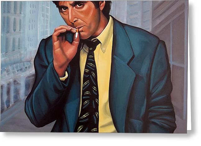 Al Pacino  Greeting Card by Paul  Meijering