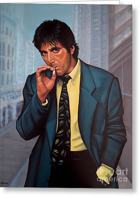 Tony Montana Greeting Cards - Al Pacino  Greeting Card by Paul  Meijering