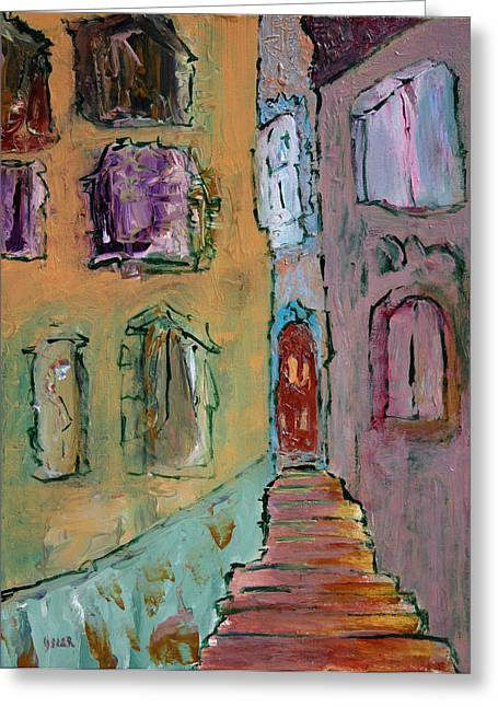 Oscar Penalber Greeting Cards - Alfama  Greeting Card by Oscar Penalber
