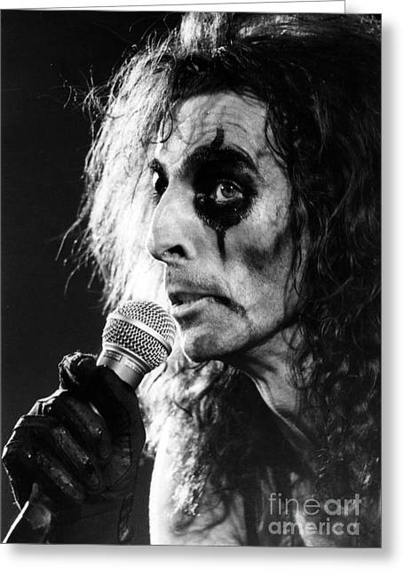 Alice Greeting Cards - Alice Cooper 1979 Greeting Card by Chris Walter