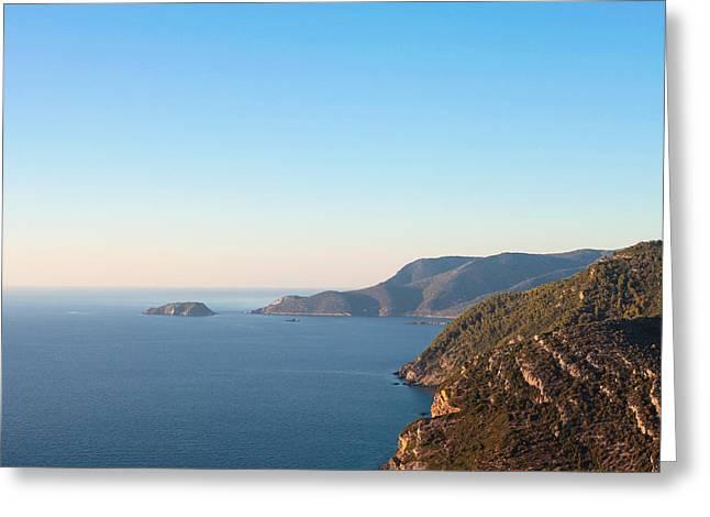 Aegean Greeting Cards - Alonissos Greeting Card by Tom Gowanlock