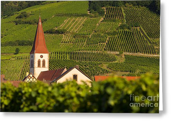 Route Des Vins Greeting Cards - Alsace Church Greeting Card by Brian Jannsen