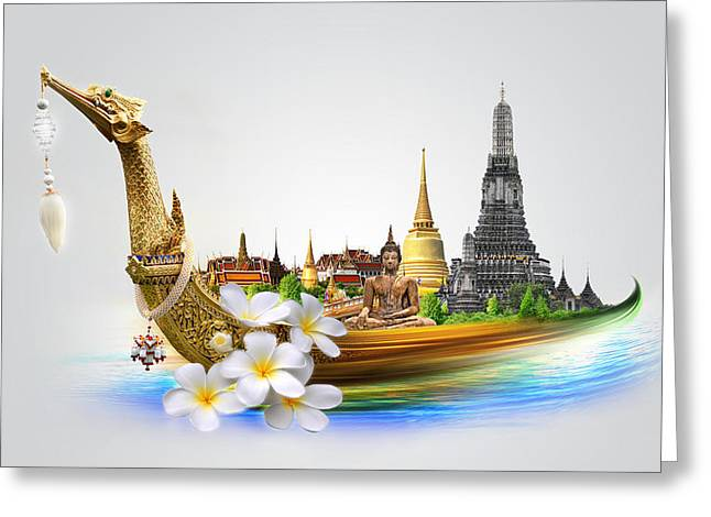 Book Cover Art Greeting Cards - Amazing Thailand Greeting Card by Potowizard Thailand