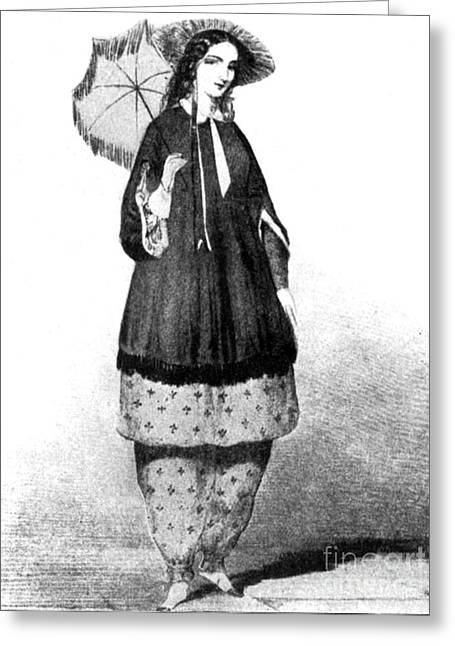 Reform Greeting Cards - Amelia Jenks Bloomer, American Activist Greeting Card by Photo Researchers