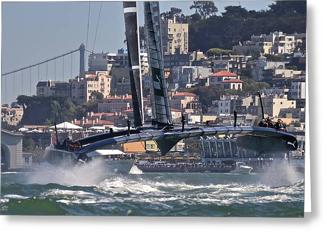 Ultimate Luxury Greeting Cards - Americas Cup Oracle Greeting Card by Steven Lapkin