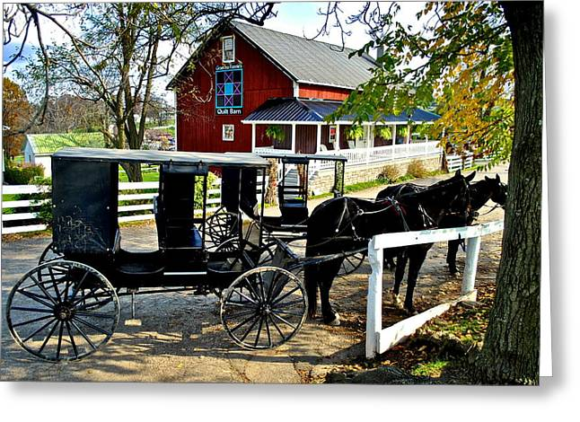 Abnormal Greeting Cards - Amish Country Greeting Card by Frozen in Time Fine Art Photography