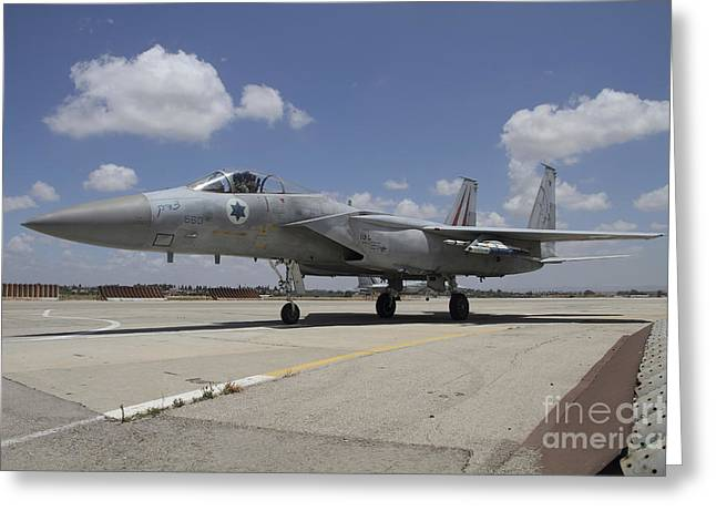 Tels Greeting Cards - An F-15c Baz Of The Israeli Air Force Greeting Card by Ofer Zidon