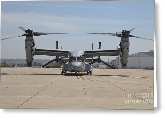 Taxiing Greeting Cards - An Mv-22 Osprey Taxiing At Marine Corps Greeting Card by Timm Ziegenthaler