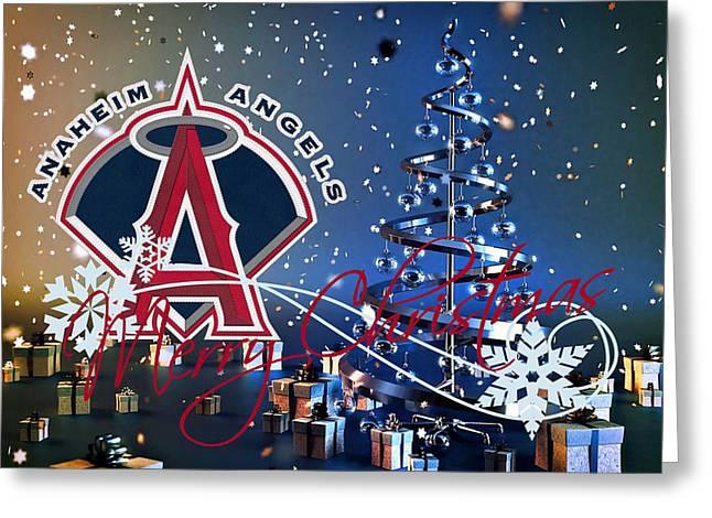 Baseball Field Greeting Cards - Anaheim Angels Greeting Card by Joe Hamilton