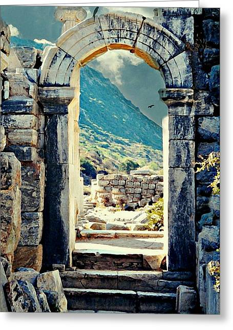 Greek Ruins Greeting Cards - Anatolia Greeting Card by Diana Angstadt