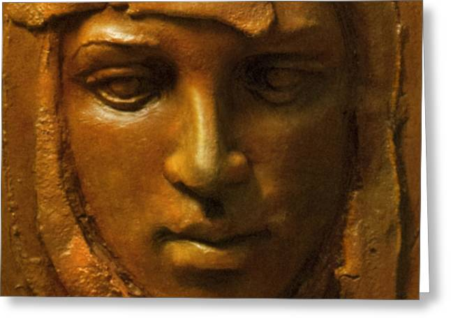 Relic Sculptures Greeting Cards - Ancestor Greeting Card by Mary Buckman