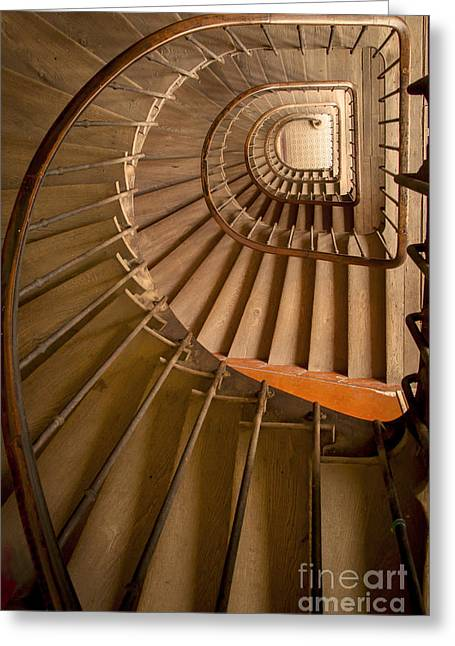 Recently Sold -  - Wooden Stairs Greeting Cards - Ancient Staircase Greeting Card by Brian Jannsen