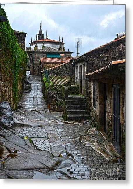 Old Street Greeting Cards - Ancient street in Tui Greeting Card by RicardMN Photography