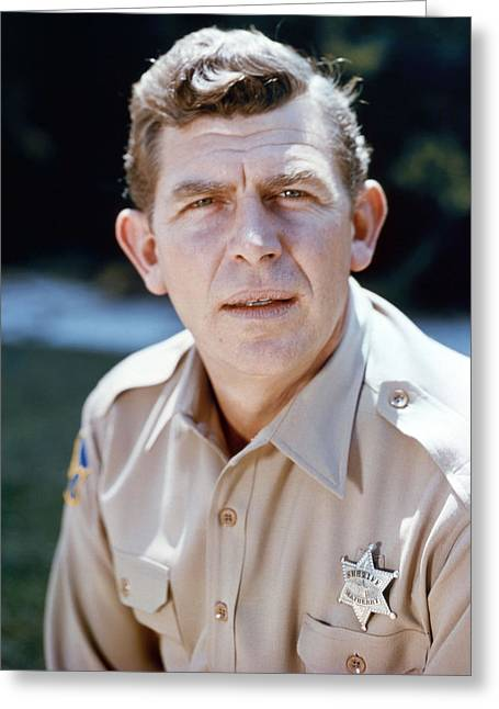 Andy Griffith Show Greeting Cards - Andy Griffith in The Andy Griffith Show  Greeting Card by Silver Screen