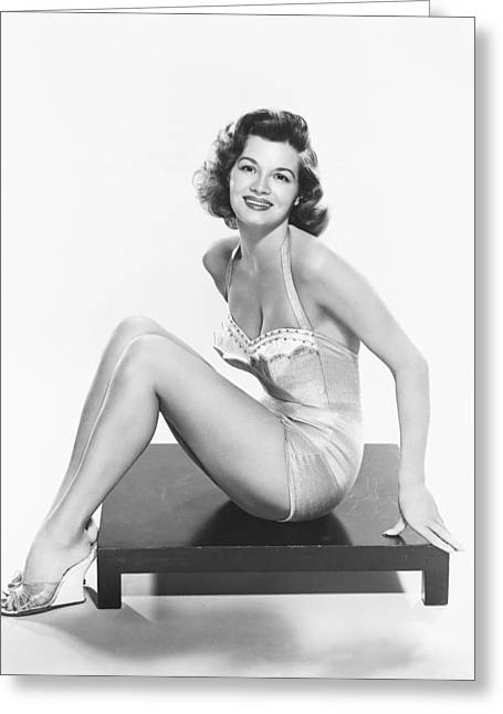 Angie Dickinson Greeting Card by Silver Screen