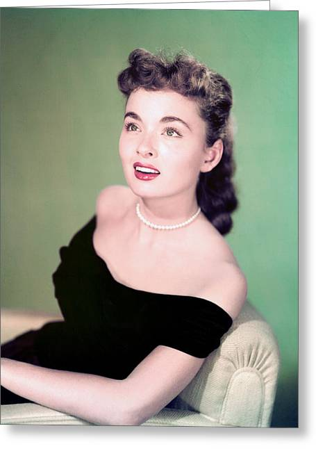 Blyth Greeting Cards - Ann Blyth Greeting Card by Silver Screen