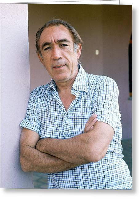 Anthony Greeting Cards - Anthony Quinn Greeting Card by Silver Screen