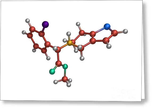 Anti Greeting Cards - Anti-clotting Drug Molecule Greeting Card by Dr. Tim Evans