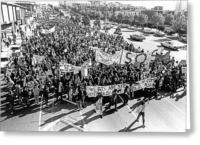 Anti Vietnam War Demonstration Greeting Card by Underwood Archives Adler
