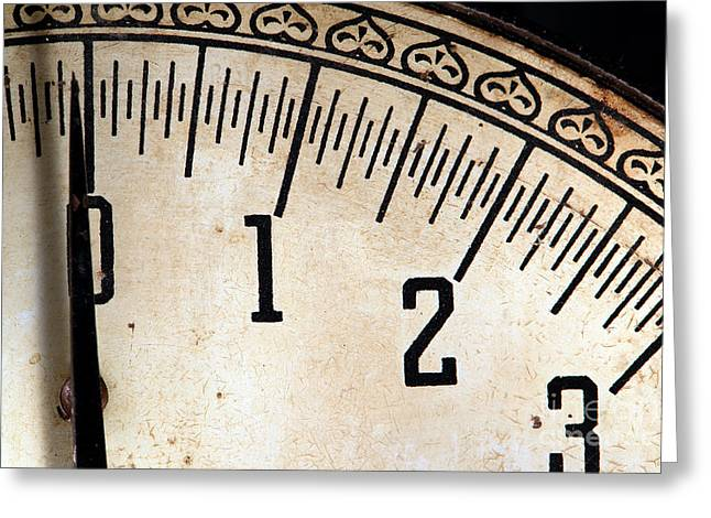 Indicator Greeting Cards - Antique Scale Greeting Card by Olivier Le Queinec