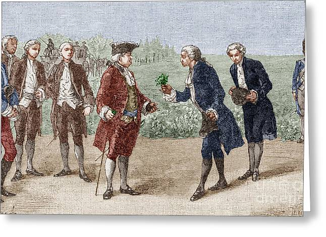 1770s Greeting Cards - Antoine Parmentier Greeting Card by Granger