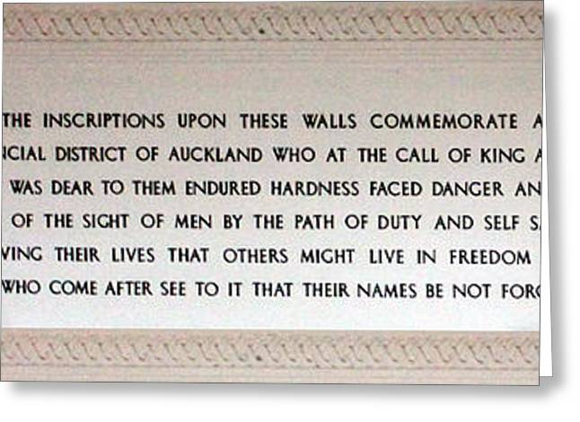 Wwi Greeting Cards - Anzac Day 2014 Auckland Greeting Card by Gee Lyon
