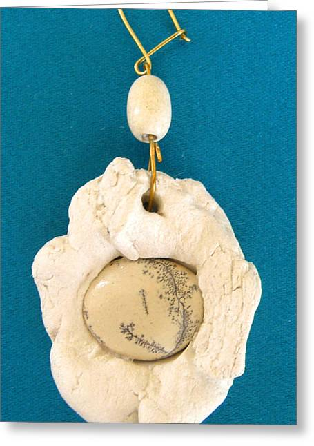 White Jewelry Greeting Cards - Aphrodite Earring Greeting Card by Augusta Stylianou