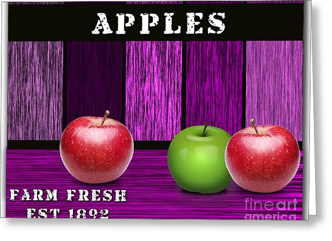 Fruit Greeting Cards - Apple Farm Greeting Card by Marvin Blaine