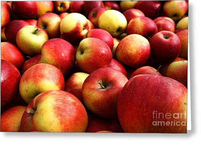 Local Food Greeting Cards - Apples Greeting Card by Olivier Le Queinec