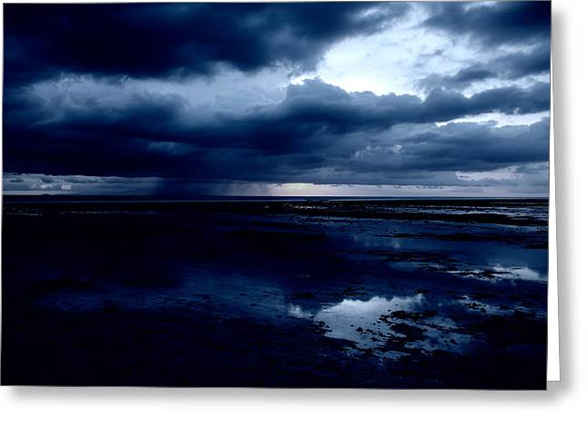 Stormy Weather Greeting Cards - Approaching Storm at Sunset - Gili Islands Indonesia Greeting Card by Mountain Dreams