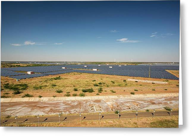 Asia's Largest Solar Power Station Greeting Card by Ashley Cooper