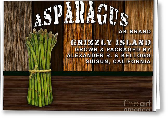 Asparagus Greeting Cards - Asparagus Farm Greeting Card by Marvin Blaine