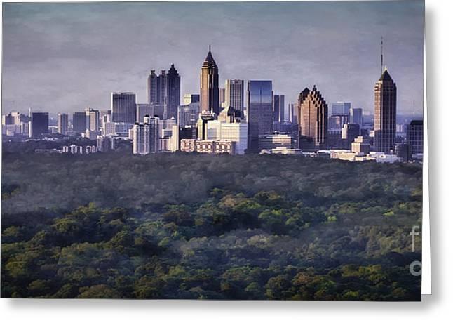 Midtown Greeting Cards - Atlanta Skyline Greeting Card by Doug Sturgess