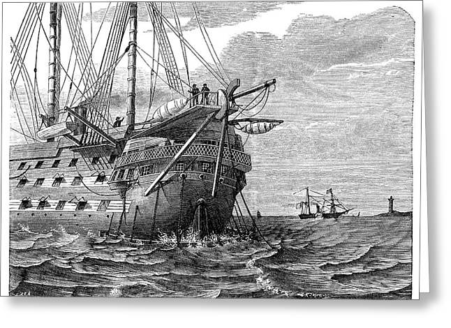 Atlantic Telegraph Cable Laying Greeting Card by Science Photo Library