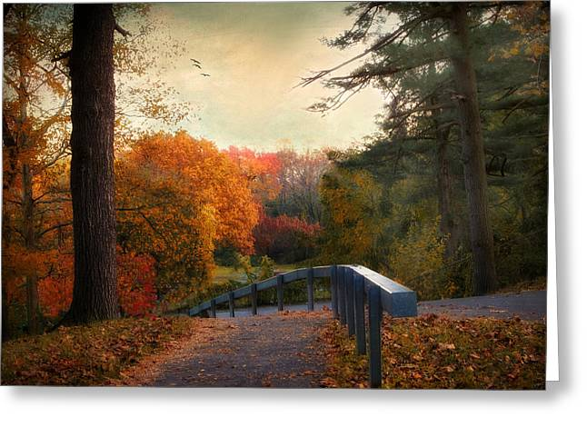 Fall Trees Greeting Cards - Autumn Ablaze Greeting Card by Jessica Jenney